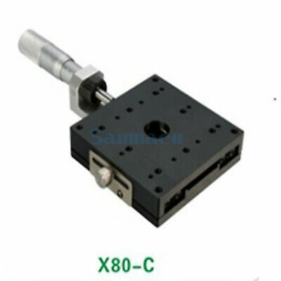 X Axis 80X80mm Platform Precision Bearing Linear Stage Central Micrometer