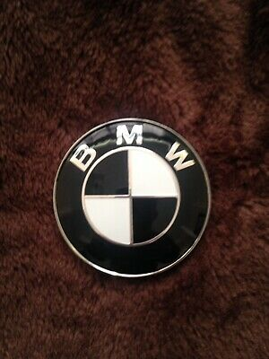 82mm New BMW Black White Badge  Bonnet Boot 1 2 3 4 5 X3 X5 Series Emblem
