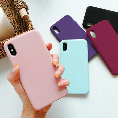 For Apple Silicone Case iPhone X XR XS MAX 6s 7 8 Plus Soft Liquid Rubber Cover
