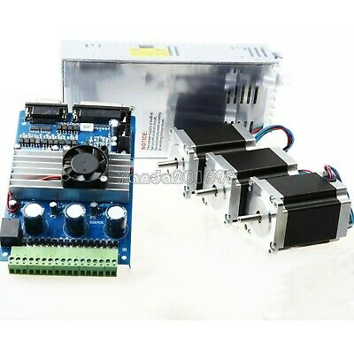 CNC Kit 3 Axis Nema23 (3pcs Stepper Motors + Driver Board +350W Power Supply) pa