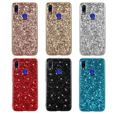 For Xiaomi Redmi Note 7 6 Pro Luxury Electroplate Soft Bling Glitter Cover Case