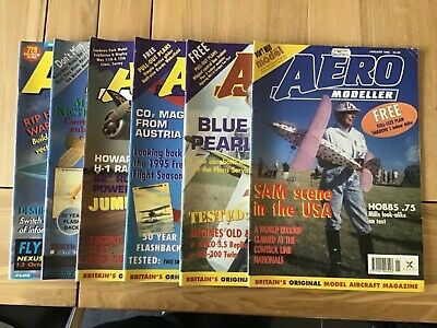 Aero Modeller - 1996 6 Issues - 5 with plans (A1925)