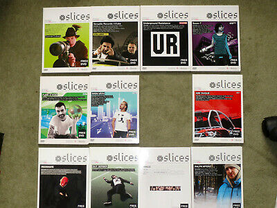Slices Electronic Music Magazine Techno DVD Collection 25 Issues 1-06 To 2-12