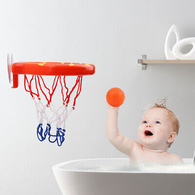 Bath Toy Baby Basketball Hoop with 3 Orange Balls Play with Plastic Toy Set