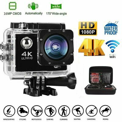 Wasserdicht Action Kamera WIFI Ultra HD 4K Helm Kamera Cam Sports Camera 16MP DE