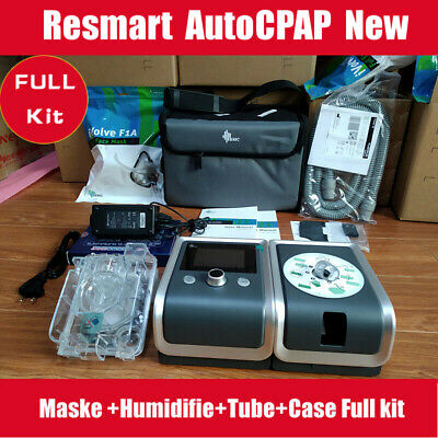 Resmart Autoset CPAP Machine +Mask+Tube+Humifier+filter+Case Sleep Apnea Device