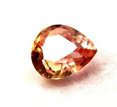 GGL Certified 5.60 Ct Pear Cut Splendid Natural Padparadscha Sapphire Gemstone