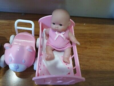 Baby Berenguer Doll In Pink With Equipment