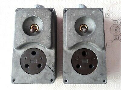 Vintage Walsall Industrial Socket Power Light Switch