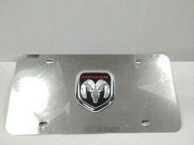 Made in USA Ford Mustang Double 3D Logo Black Stainless Steel License Plate