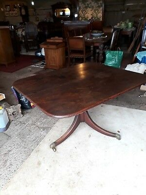 Antique Georgian Mahogany Tilt Top Table