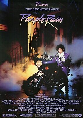 Purple Rain Movie Poster Film Photo Print  Picture Prince