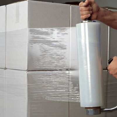 3 - Strong Rolls Clear Pallet Stretch Shrink Wrap Cast Packing Cling Film
