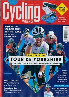 CYCLING WEEKLY MAGAZINE 26th APRIL 2018 ~ NEW ~