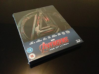 Steelbook Blu Ray 3D/2D Avengers Age Of Ultron Zavvi Exclusive New And Sealed