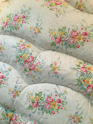 Exquisite Vintage Feather Eiderdowm Flowers And Ribbons Country Chic