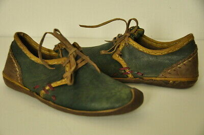 Turkish shoes, size 39, leather handmade, Ottoman style, green, new