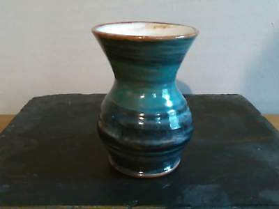 Small Blue Swirl Glaze Hand Thrown Wold Studio Pot (Pre-owned)