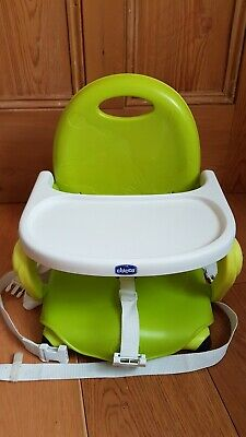 Chicco Child's Toddler Baby Travel Pocket Snack Booster Seat - Lime Green Used