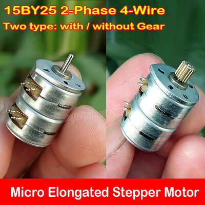 Micro Mini 15MM Stepper Motor 2-Phase 4-Wire Elongated Stepping DIY Toy Part