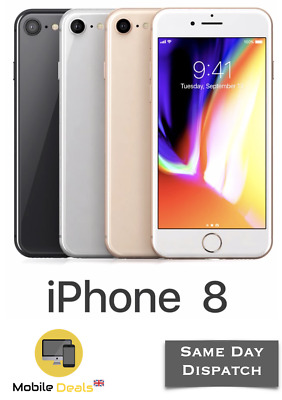 Apple iPhone 8 64GB & 256GB 4G LTE iOS Smartphone Unlocked All 4 Colours