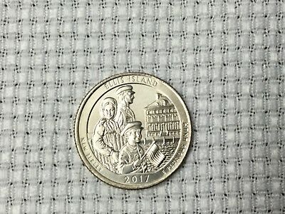 2017P Ellis Island National Park Quarter From Bank Roll Unc Bu