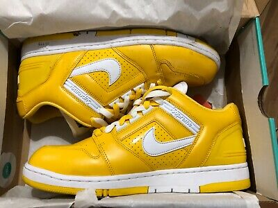 SUPREME X NIKE SB Air Force 2 LOW Size 11.5 Yellow Varsity Maize [AA0871 717]