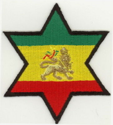 """25 Pcs RASTA Fist in circle Embroidered Patches 3/"""" Diameter iron-on"""
