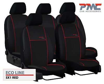For Nissan Navara D40 Double Cab 05-14  Black Front Rear Split Lux Seat Covers