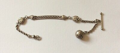 Good Quality Victorian Silver Albertina Pocket Watch Chain