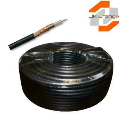 Professional Black White CT100 Digital TV Aerial Coax Cable Coaxial-CAI APPROVED