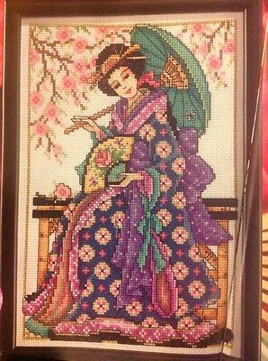 CROSS STITCH CHART GROWING OLD DISGRACEFULLY CHART JOAN ELLIOTT LADY ON BIKE
