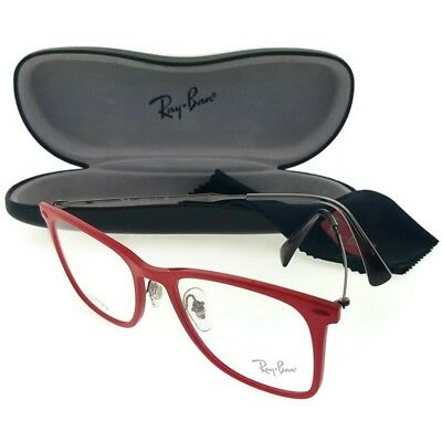 0dde0be0a84d2 RAY BAN RX7086-5641-51 Tech Unisex Red Frame Clear Lens Genuine ...