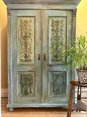 Vintage French Wardrobe /armoire With Boiserie Panal