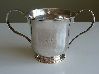 George III 1764 Sterling Silver Porringer Loving Cup