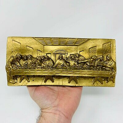 The Last Supper Wall Plaque 3D Molded Ceramic Resin Home Interior Picture Jesus