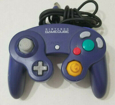 Official OEM Nintendo GameCube Clear Indigo Purple Controller DOL-003