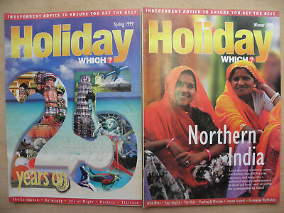 x2 HOLIDAY WHICH MAGAZINE SPRING 1999 25th ANNIVERSARY EDITION & WINTER 1999