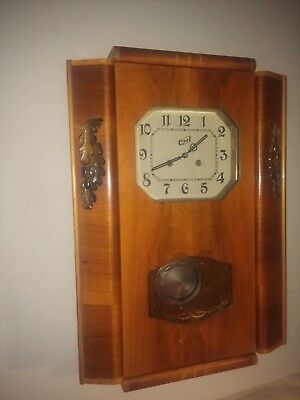 Vintage Old BIG USSR Mechanical Grandfather's Wall Clock with Chime