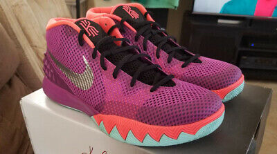 95bc102bce5f Nike Kyrie I 1 Easter Berry Silver Hot Lava 705277-508 Sz 12 Worn Once