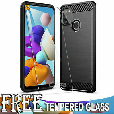 Samsung Galaxy A20 A30 A50 A70 Case Premium Flexible Soft Anti Slip Bumper Cover