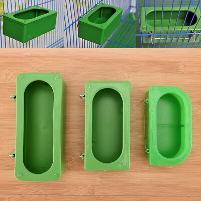 Plastic Green Food Water Bowl Cups Parrot Bird Pigeons Cage Cup Feeder Feedi HV