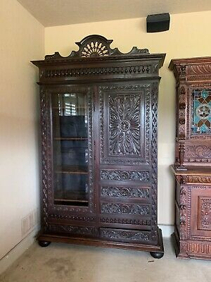 19th Century Rare Antique French Brittany Cabinet