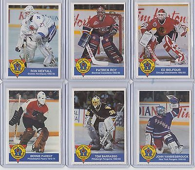 High Liner Greatest Goalies 1993/94 You Choose @$1.00 Each- Roy, Bower, Plante