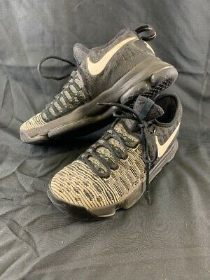 Nike Zoom KD Kevin Durant 9 Mens 8.5 White Black Flyknit Shoes 843392-010 WSSG