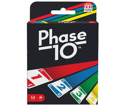 Mattel Phase 10 Card Game Fun Family Exciting 6 Players Portable Travel Game New