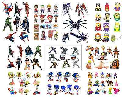 party bag fillers stickers candy bag decal superman batman mario sonic hulk thor