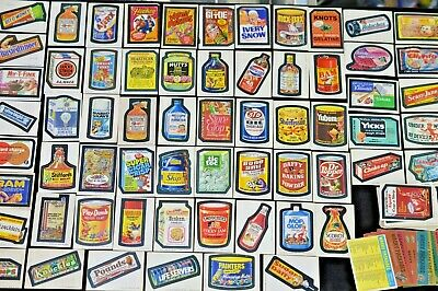 Vintage Topps Wacky Packages Lot - 227 Sticker Cards + Bonus Cards