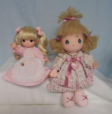 """2 Collectible  """"precious Moments"""" Dolls-14"""" Carrie 1985 & 10"""" Vinyl 1992"""
