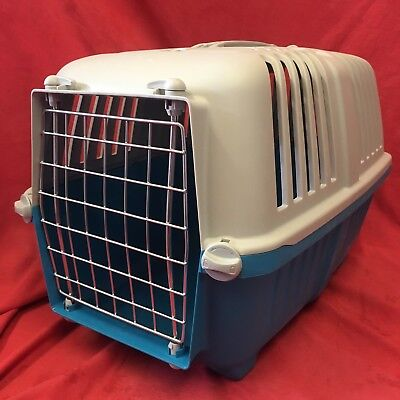"""Plastic Rabbit Guinea Pig Carrier Box 18 x 12"""" Vets Transport Carrying Air Vents"""